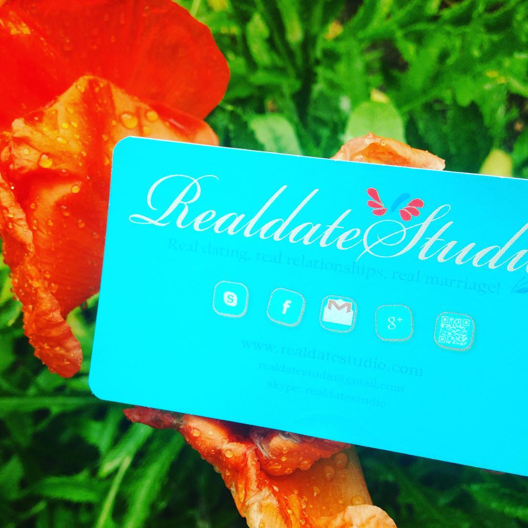 realdatestudio, business card, matchmaking, dating, counseling, coaching, psychology